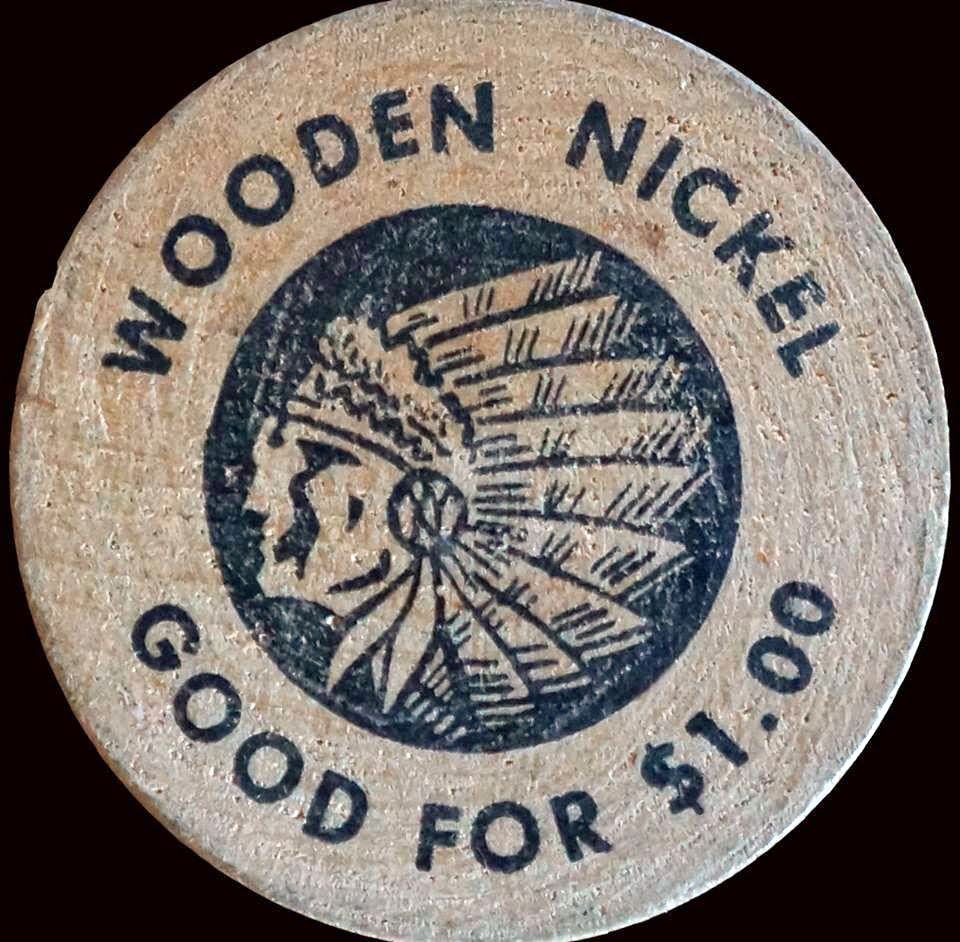 The Towpath wooden nickle