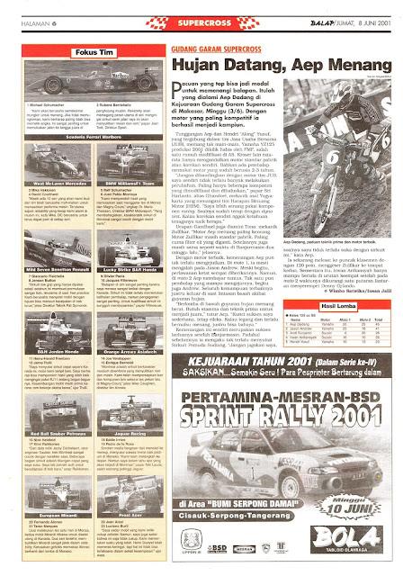 GUDANG GARAM SUPERCROSS 2001 AEP