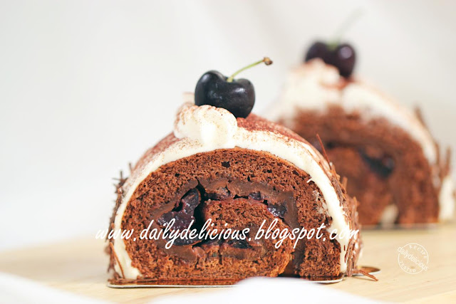 Dailydelicious Black Forest Rolled Cake La For 234 T Noire