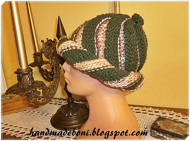 Zielona ślimakowa czapka . Zrób razem ze mną :-)
