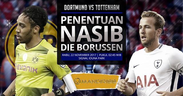 Borussia Dortmund Vs Tottenham Hotspur  Terkini Prediksi Bola : Borussia Dortmund Vs Tottenham Hotspur , Rabu 22 November 2017 Pukul 02.45 WIB