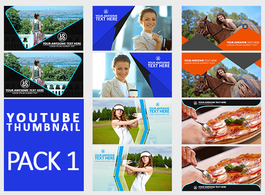 Free Download Youtube Thumbnail Template Pack 1