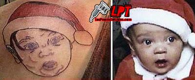 Tatuaje de niño en Navidad FAIL