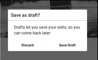 Instagram segera update dengan fitur baru Save Draft