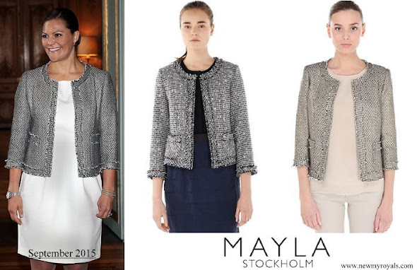 Crown Princess Victoria wore Mayla Coat