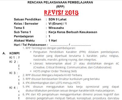 GAMBAR rpp k13 revisi 2018