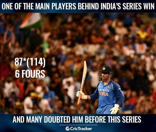 dhoni man of the series images wallpaper