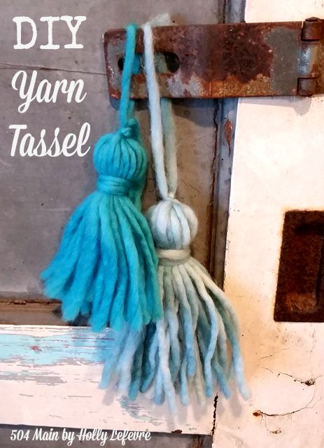 How to Make an EASY DIY Yarn Tassel