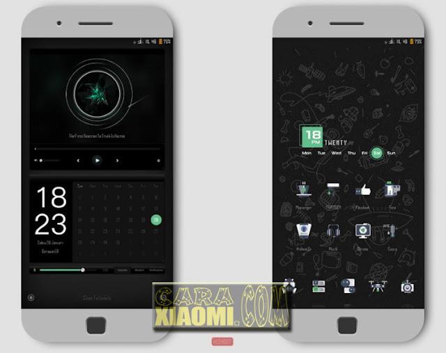 Tema Xiaomi TELULAZT Mtz For MIUI Update Black and Green Desain
