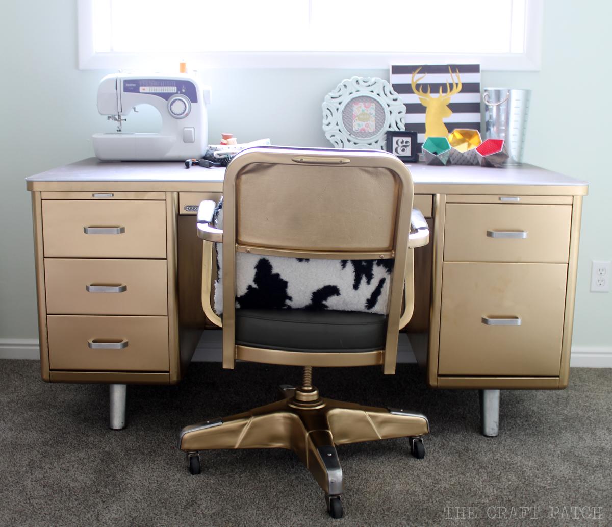The Craft Patch Vintage Tanker Desk Makeover