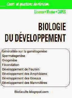 Biologie du développement livre