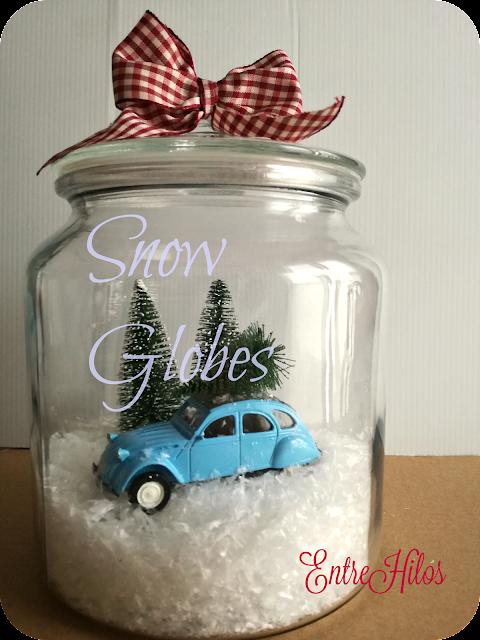 como hacer una bola de nieve o snow globe