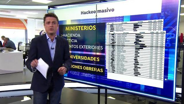 Piratas informáticos aseguran haber atacado las cuentas de los ministerios de Hacienda, Exteriores de Justicia