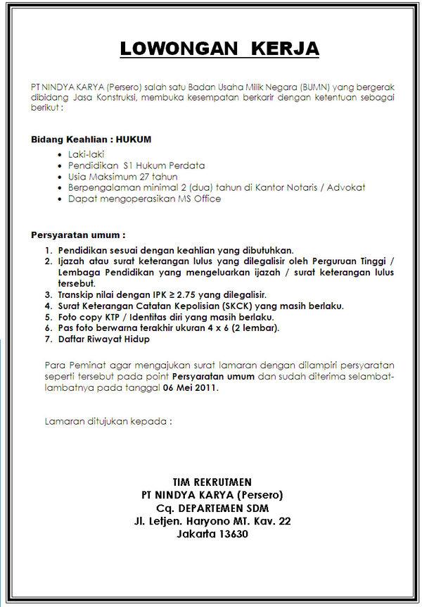 Www Info Lowongan Kerja Com Lowongan Kerja Indonesia Search Lowongan Kerja Terbaru Lowongan Kerja 2011 Lowongan Ninda Karya