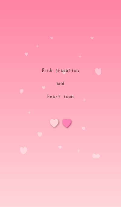 Pink gradation and heart icon
