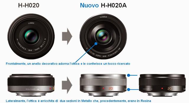 Confronto tra il Panasonic LUMIX G 20 mm F1.7 II ASPH e il precedente modello