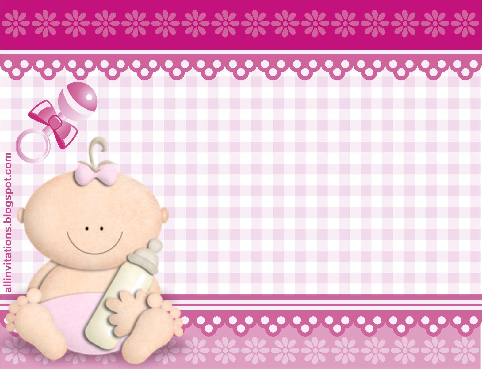 Invitacion Baby Shower Bebe Con Biberon All Invitations