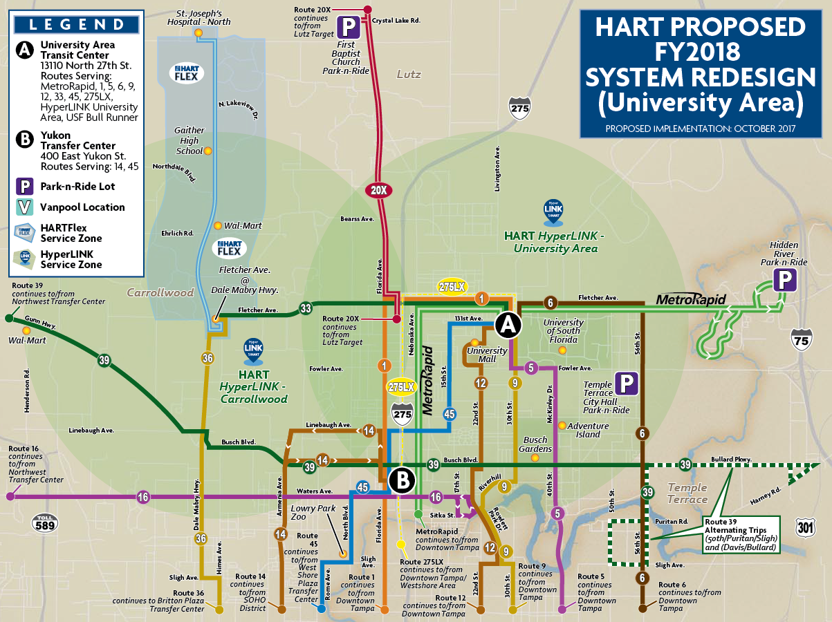 In Transit The Official HART Transit Blog - Florida map ruskin