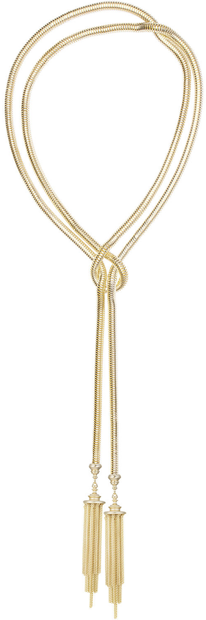 "Kendra Scott McKayla Snake-Chain Lariat Necklace, 60""L"