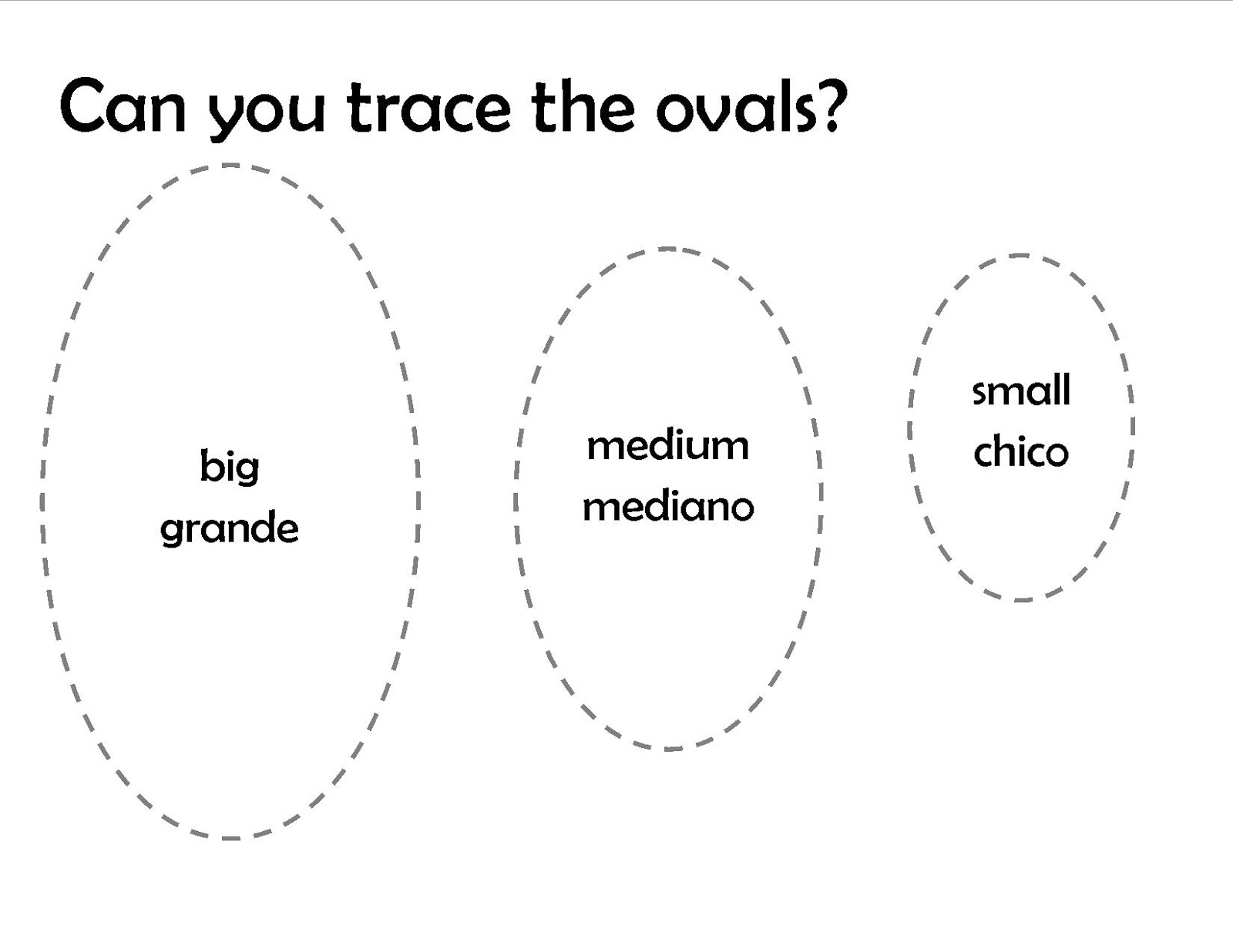 Oval Shape Worksheet