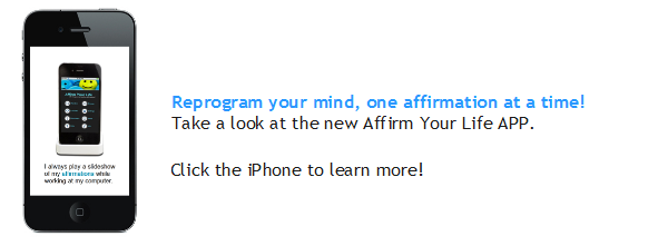 Screenshot from the Affirm Your Life App