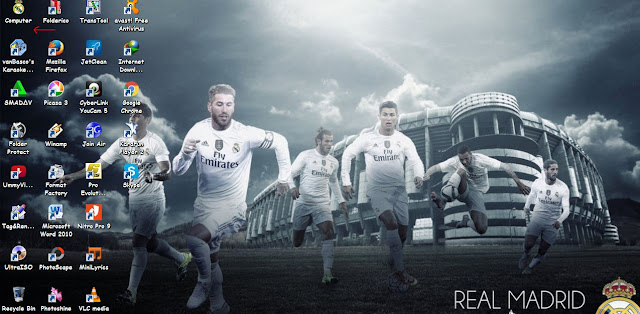 Tema Real Madrid 2016 untuk Windows 7, Windows 8, Windows 8.1 dan Windows 10