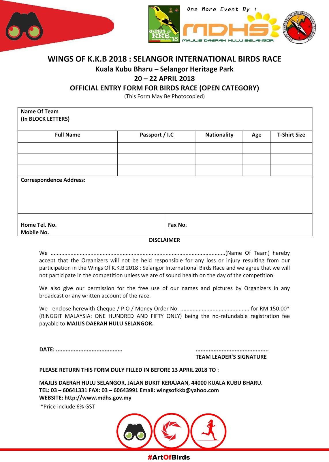 Wings Of Kkb Borang Penyertaan Application Form