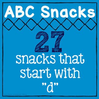 abc snacks, alphabet snacks, alphabet foods, letter of the week