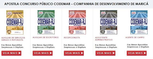 Apostila CODEMAR TODOS os Cargos 2017
