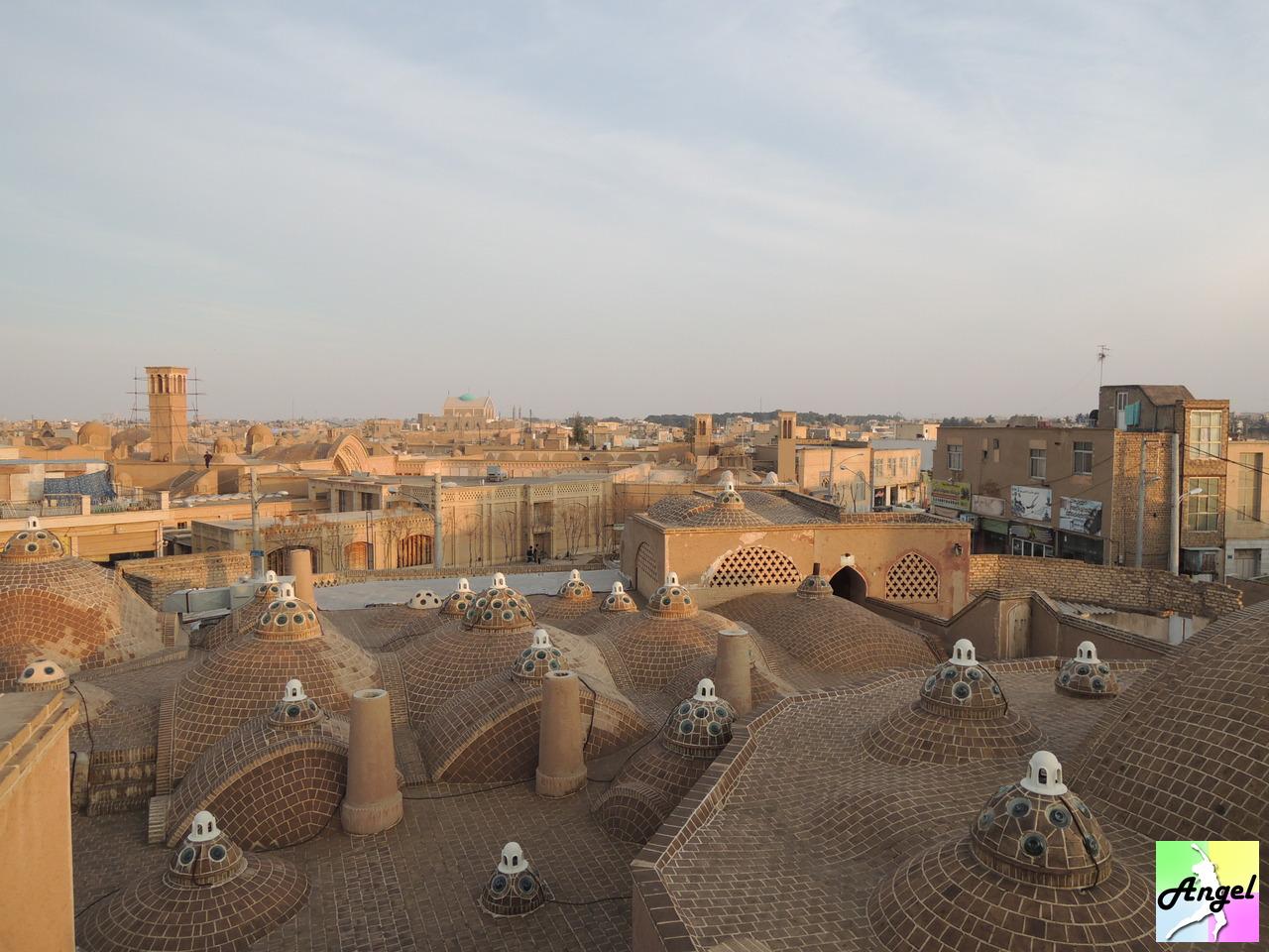 amir ahmad bathhouse rooftop kashan iran