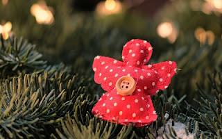 Angelo di stoffa decorazione natalizia