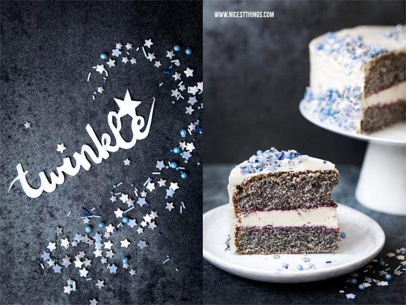 Sterne Streudekor blau Dr. Oetker Galaxy Cake