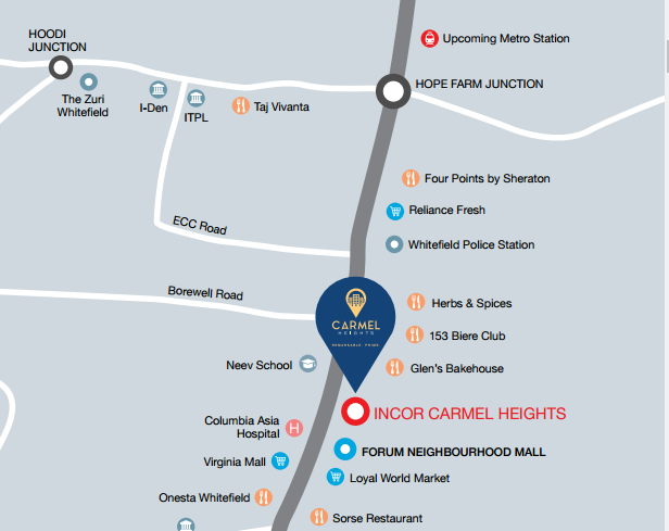 Incor Carmel Heights Location Map