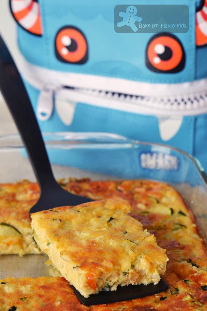 zucchini custard slices Paula Deen