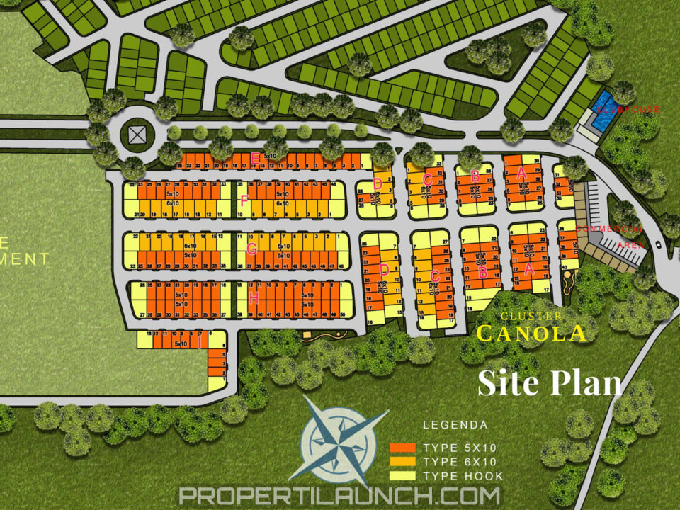 Siteplan Cluster Canola