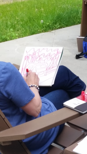 Interlochen journal and sketchbook participant drawing