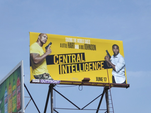Central Intelligence film billboard