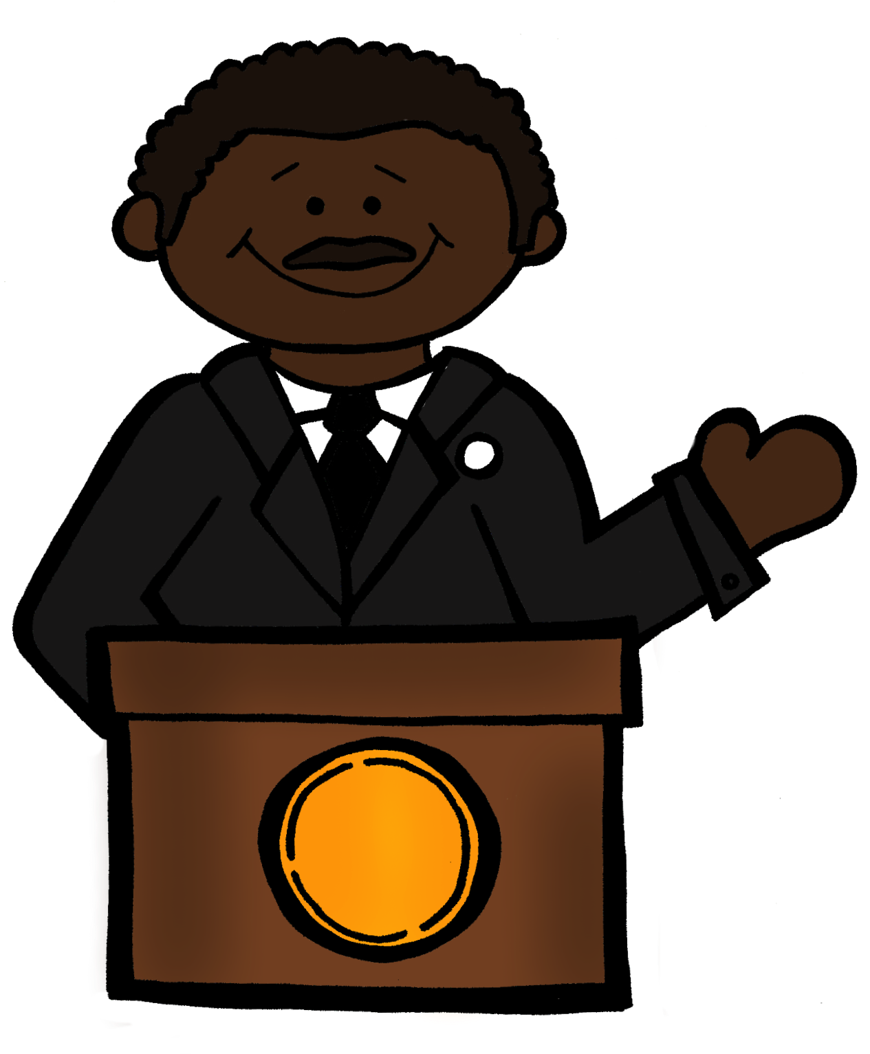 clip art martin luther king jr day - photo #16