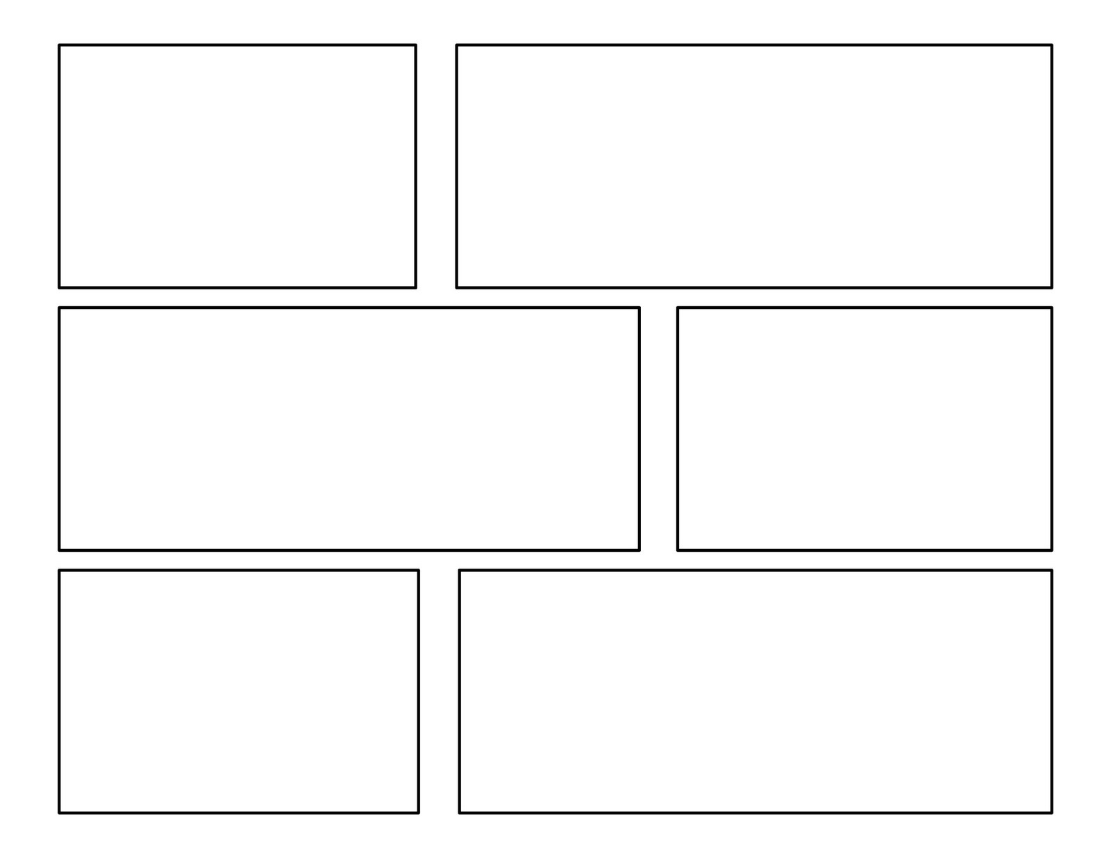 3rd grade: First Batch of Comic Templates