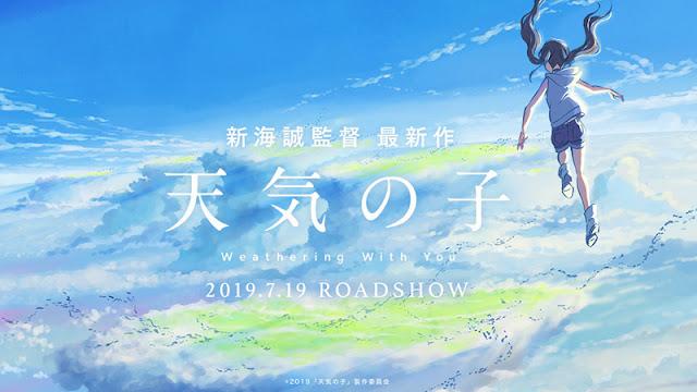 Teaser Film Anime Tenki no Ko Menampilkan lagu RADWIMPS