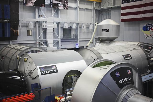 Replicas of the international space center