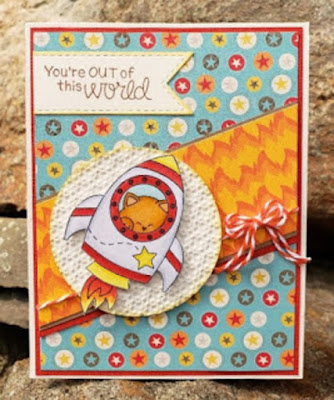 You're out of this world by Janice features Cosmic Newton by Newton's Nook Designs; #newtonsnook