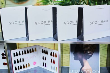 view of how Good hair products are being packaged