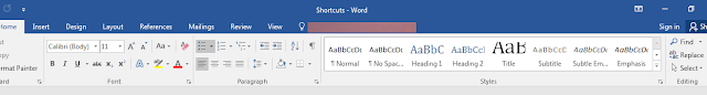 Ms word shortcuts