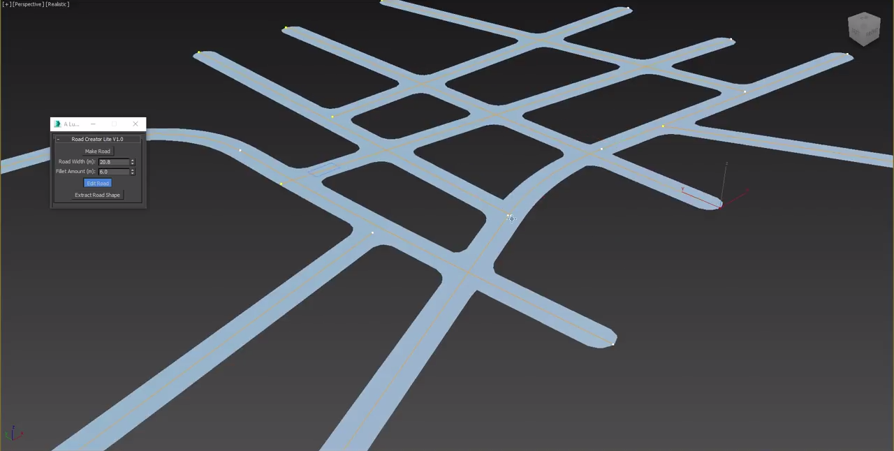 Free 3ds Max Script: Road Creator Lite | Tool of the day
