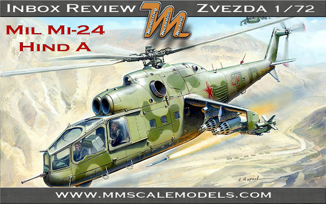 Mil MI-24 Hind A Zvezda 1/72, kit # 7273 - inbox review