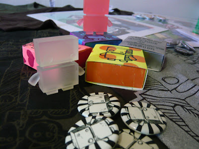 The Jelly Empire x Argonaut Resins Jelly Bot Mini Resin Figures and Hand Made Custom Packaging