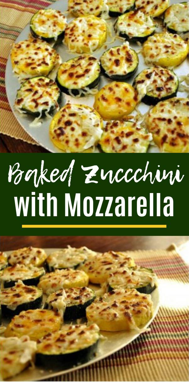 Baked Zucchini with Mozzarella #healthy #keto