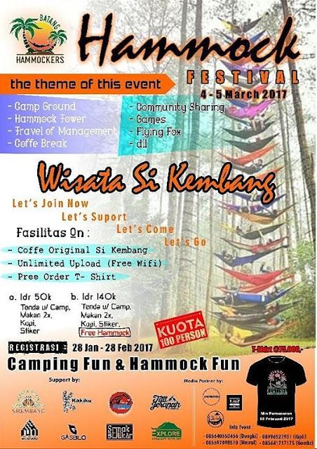 Festival Hammock Tower dan Camping Fun Sikembangpark