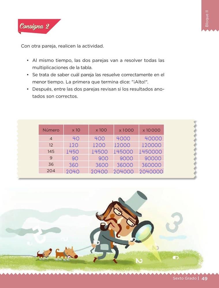 Libro de textoDesafíos MatemáticosRápido y correctoSexto gradoContestado
